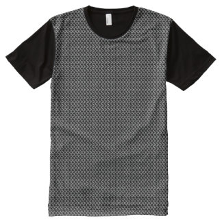 Faux Chainmail Mesh Links All-Over Print Shirt