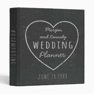 Faux Chalkboard Heart Wedding Planner Binder