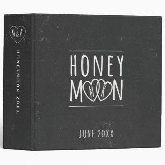 Faux Chalkboard Honeymoon Scrapbook 3 Ring Binder