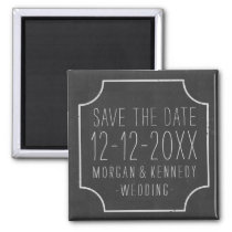 Faux Chalkboard Save The Date Wedding Magnet