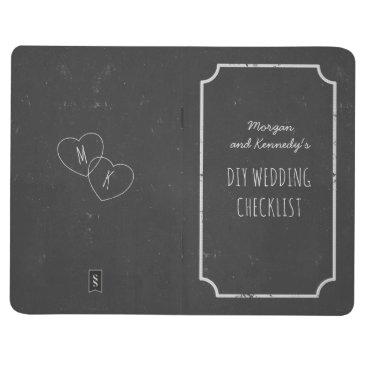 Valentines Themed Faux Chalkboard Wedding Checklist Pocket Journal