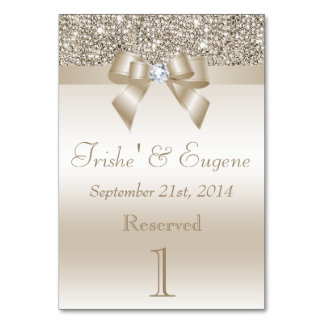 Faux Champagne Sequins and Bows Card