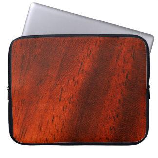 Faux Cherry Wood Grain Laptop Travel Sleeve