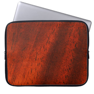 Faux Cherry Wood Grain Laptop Travel Sleeve Laptop Sleeves