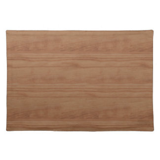 Faux Cherry Wood Print Cloth Placemat
