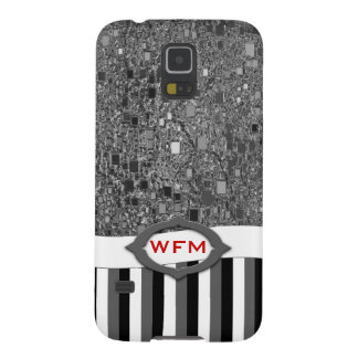 Faux Chrome Mini Box Background Template Galaxy S5 Cover