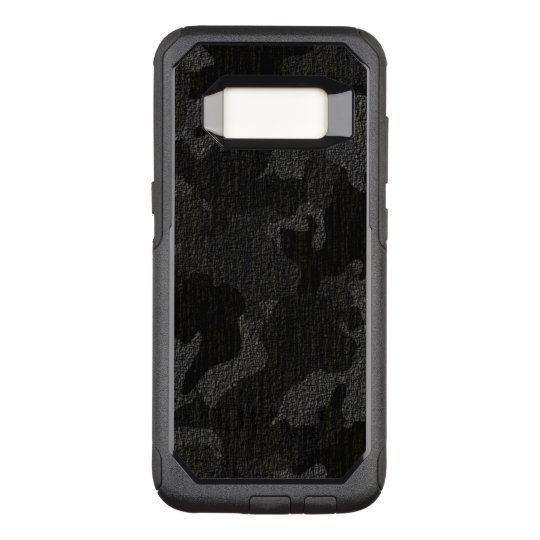 new styles a6510 bba46 Faux Cloth Black Military Camo Camouflage Pattern OtterBox Commuter Samsung  Galaxy S8 Case