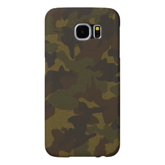 Faux Cloth Brown Camo Military Samsung S6 Cases