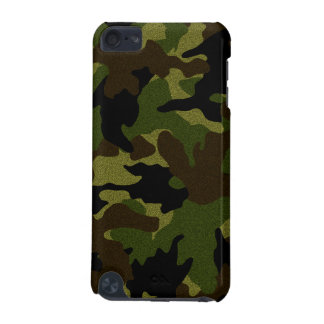 Faux Cloth Green Camo Military Camouflage Pattern iPod Touch 5G Cover