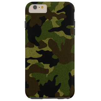 Faux Cloth Green Camo Tough iPhone 6 6S Plus Cases