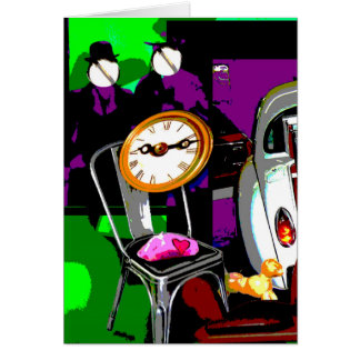 Faux-Collage pop Card