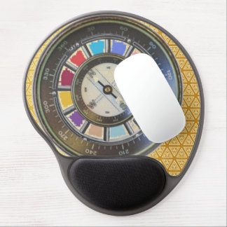 Faux Compass on color wheel Gel Mouse Pad