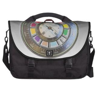 Faux Compass on color wheel Laptop Messenger Bag