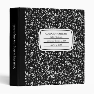 Faux Composition Book 3-ring Binder