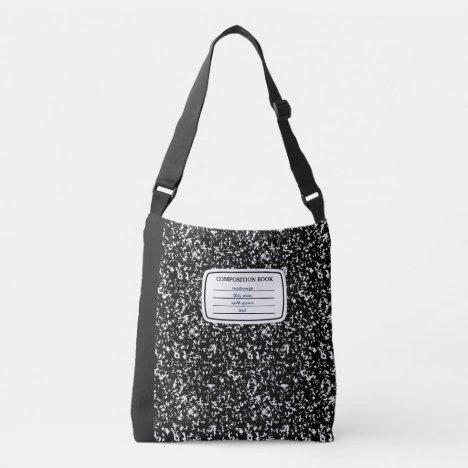 Faux Composition Book Crossbody Bag