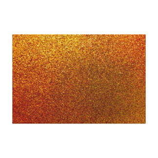 Faux Copper Gold Yellow Glitter Background Sparkle Canvas Print