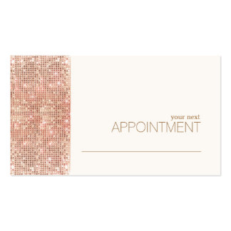 FAUX Copper Sequins Salon & Spa Appointment Card Business Card