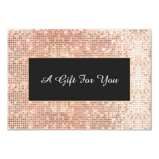 Faux Copper Sequins Spa and Salon Gift Certificate Card
