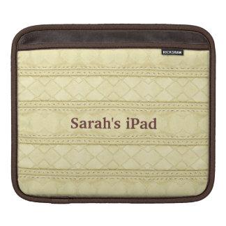 Faux Cream Leather iPad Sleeve