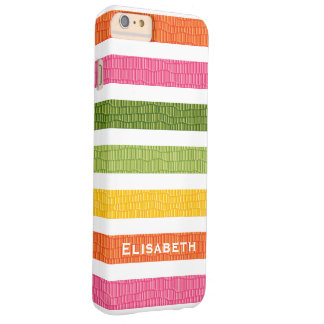 Faux Croc Bright Stripe Barely There iPhone 6 Plus Case