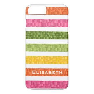 Faux Croc Bright Stripe iPhone 7 Plus Case