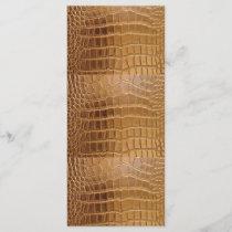 Faux Crocodile Leather Animal Skin Pattern