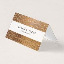 Faux Crocodile Leather Animal Skin Pattern Business Card