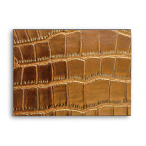 Faux Crocodile Leather Animal Skin Pattern Envelope