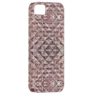 Faux Crystal Amethyst Glass Tile Wrap iPhone SE/5/5s Case