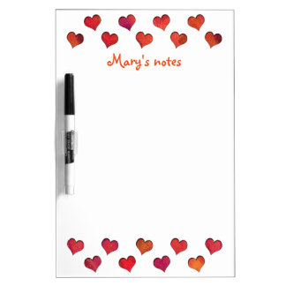 Faux Cut Out Hearts Dry-Erase Board