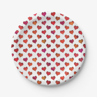 Faux Cut Out Hearts Paper Plate