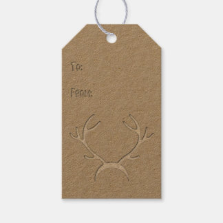 Faux Cutout - Antlers - Gift Tag #3