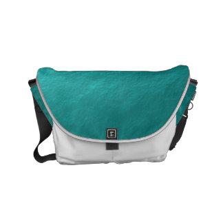 Faux Cyan Aqua Blue Foil Small Messenger Bag