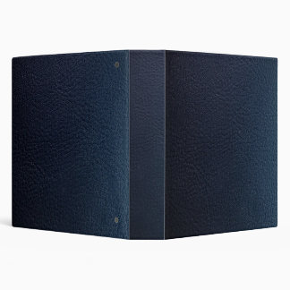 Faux Dark Blue Leather Avery Binder
