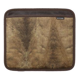 Faux Dark Brown Leather iPad Sleeve