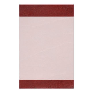 Faux Dark Red Leather Background Stationery