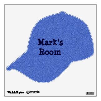 Faux Denim Baseball Cap Wall Sticker