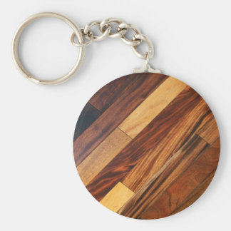 Faux Diagonal Wood Flooring Keychain