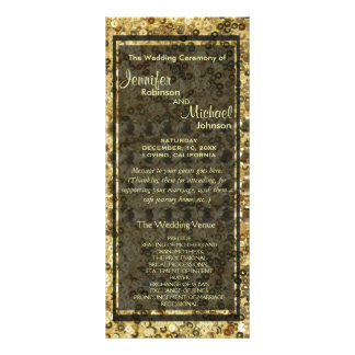 Faux Diamond and Gold Glitter Look Rack Card