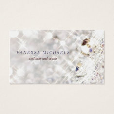 Faux Diamond Bling Glitter Bokeh Event Planner Business Card at Zazzle