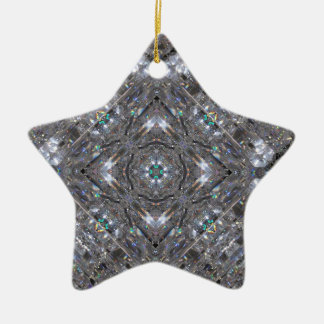 Faux Diamond + Gems Christmas Star Ornament