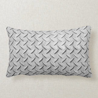 Faux Diamond Plating Background Pillow