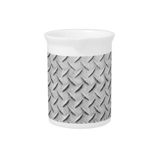 Faux Diamond Plating Background Beverage Pitchers