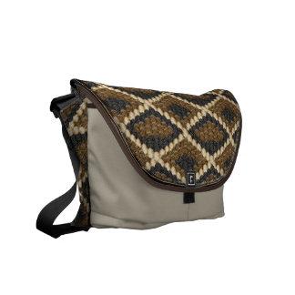 faux diamondback snake messenger bags