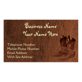 Faux Distressed Leather Wrangler style XIII Double-Sided Standard Business Cards (Pack Of 100)