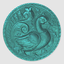 Faux Embossed Peacock Teal Set 1026 Stickers
