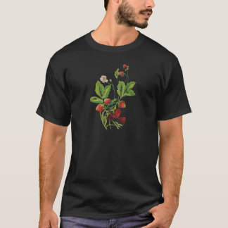 Faux Embroidered Fresh Strawberries T-Shirt