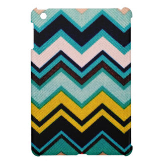 Faux Fabric Fo Sho Brown Charlie Chevrons Case For The iPad Mini