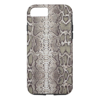 Faux / Fake snakeskin, greens and grays iPhone 7 Case