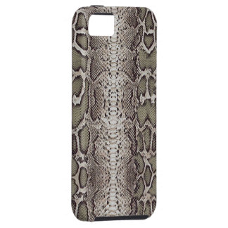 Faux / Fake snakeskin, greens and grays iPhone SE/5/5s Case